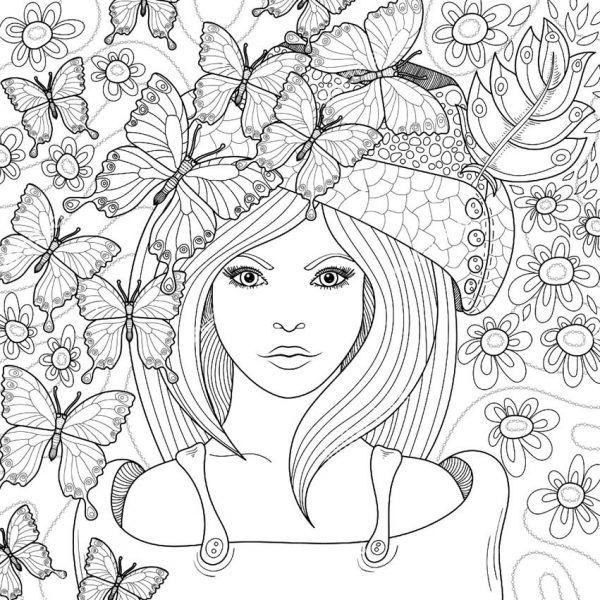 Девушки-раскраски (25 фото) | Раскраски мандала, Раскраски ...