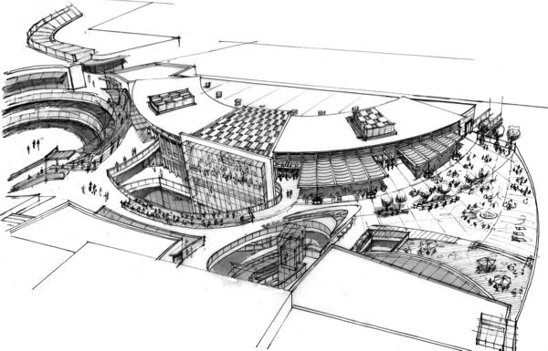 Architect Design Sketches s-1-2-smp-concept sketch (600×385) | architecture/design/urban