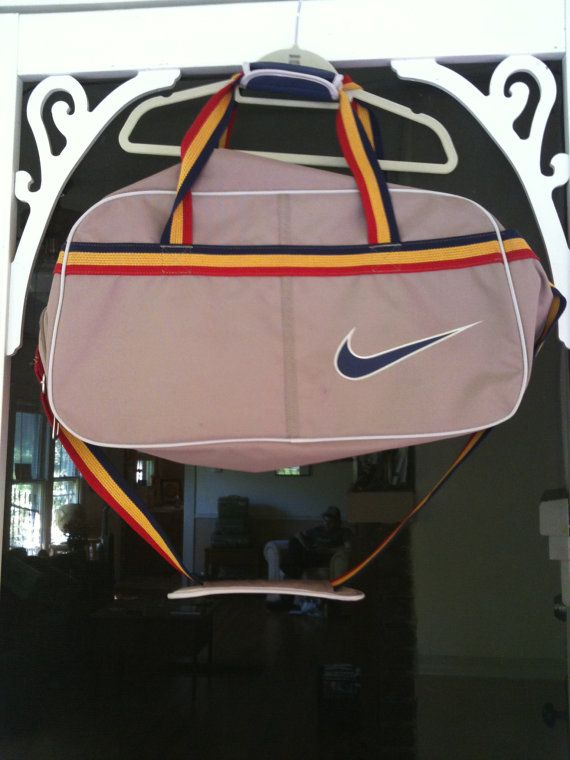 Rare Vintage Nike Sport Duffle Bag With Separate Shoe Section Etsy Vintage Nike Nike Bags Bags