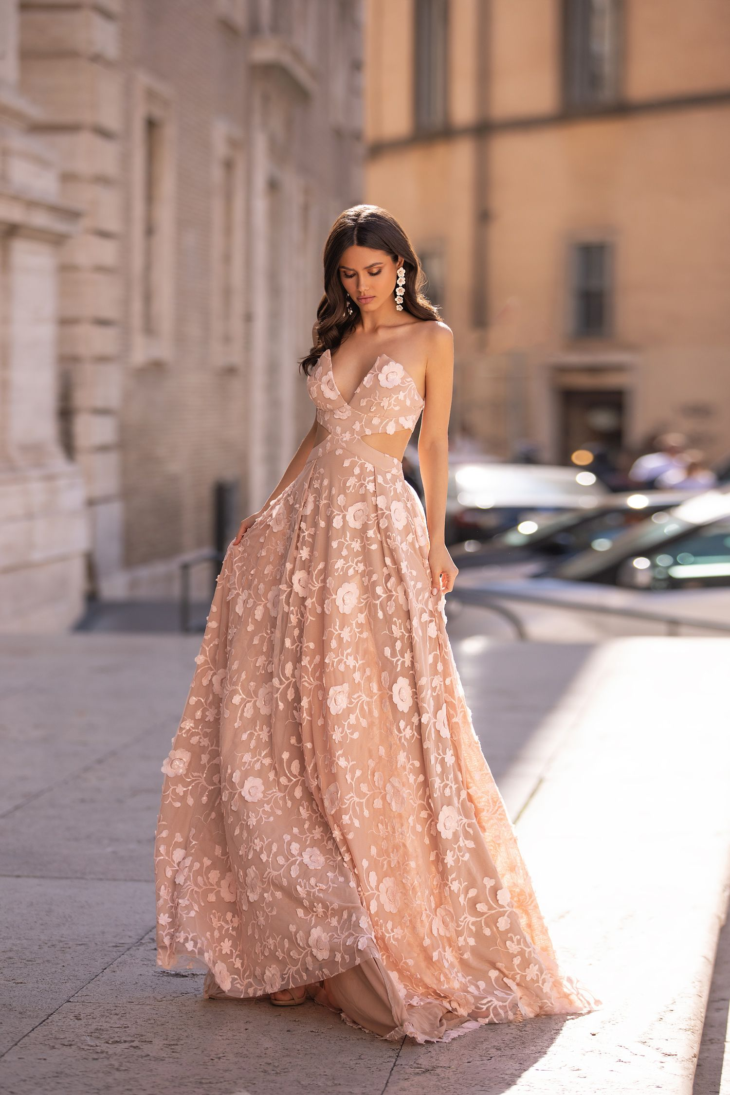 Fiorella In 2020 Pink Formal Dresses Formal Dresses For Weddings Stylish Gown