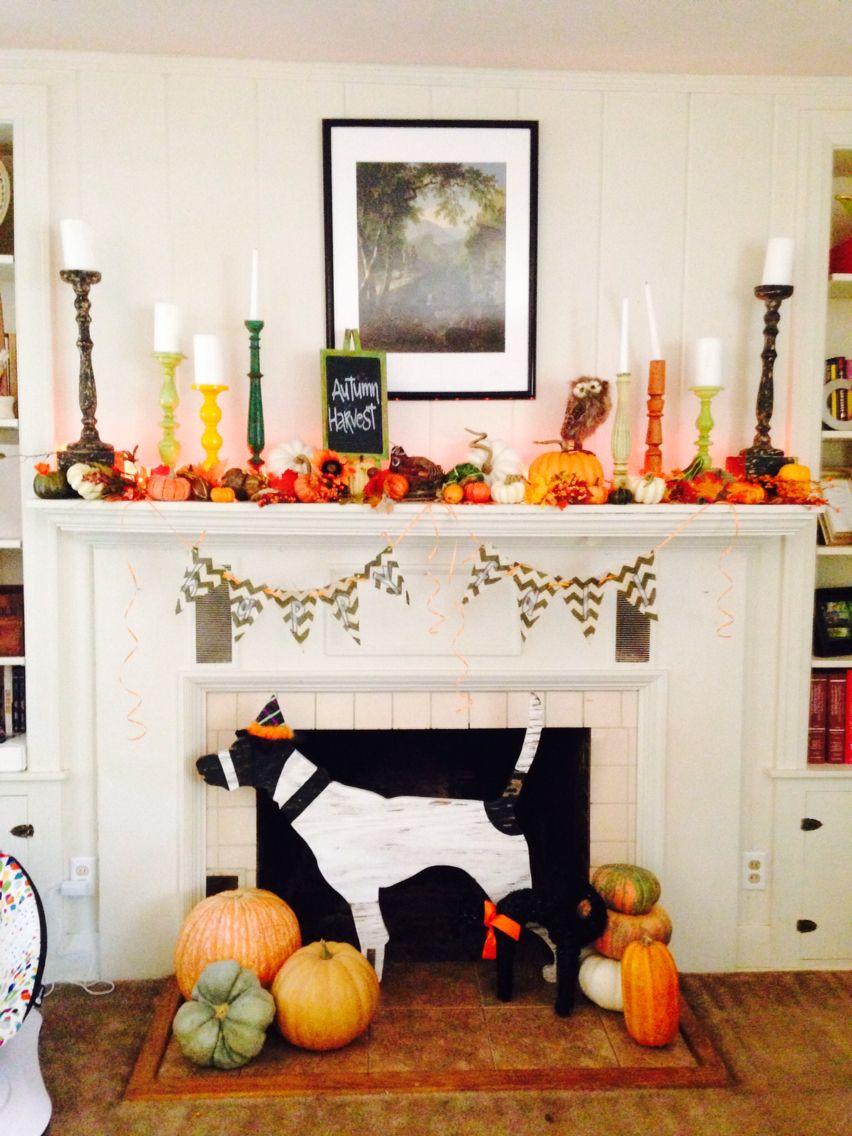 Fall fun decor at my Monticello house, I love having a ...