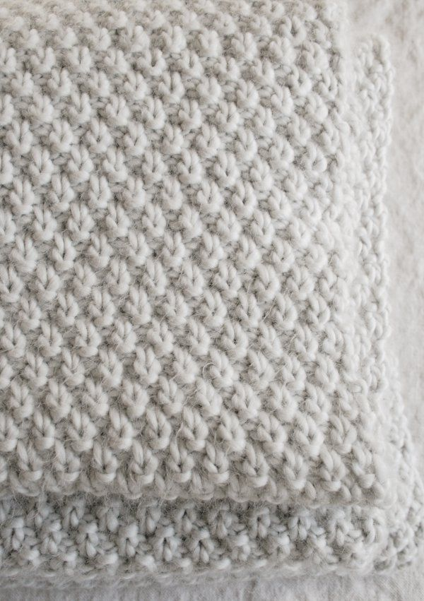 9078eb917480 Double Seed Stitch Blanket
