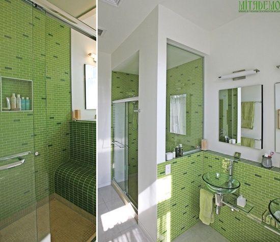 La salle de bain verte – Idées Déco et photo | Pinterest | Salles de ...