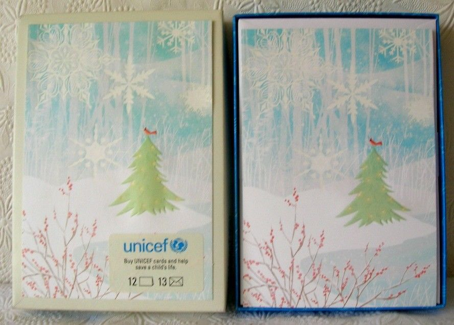 Hallmark UNICEF Christmas Boxed Greeting Cards Tree Cardinal Snowflakes
