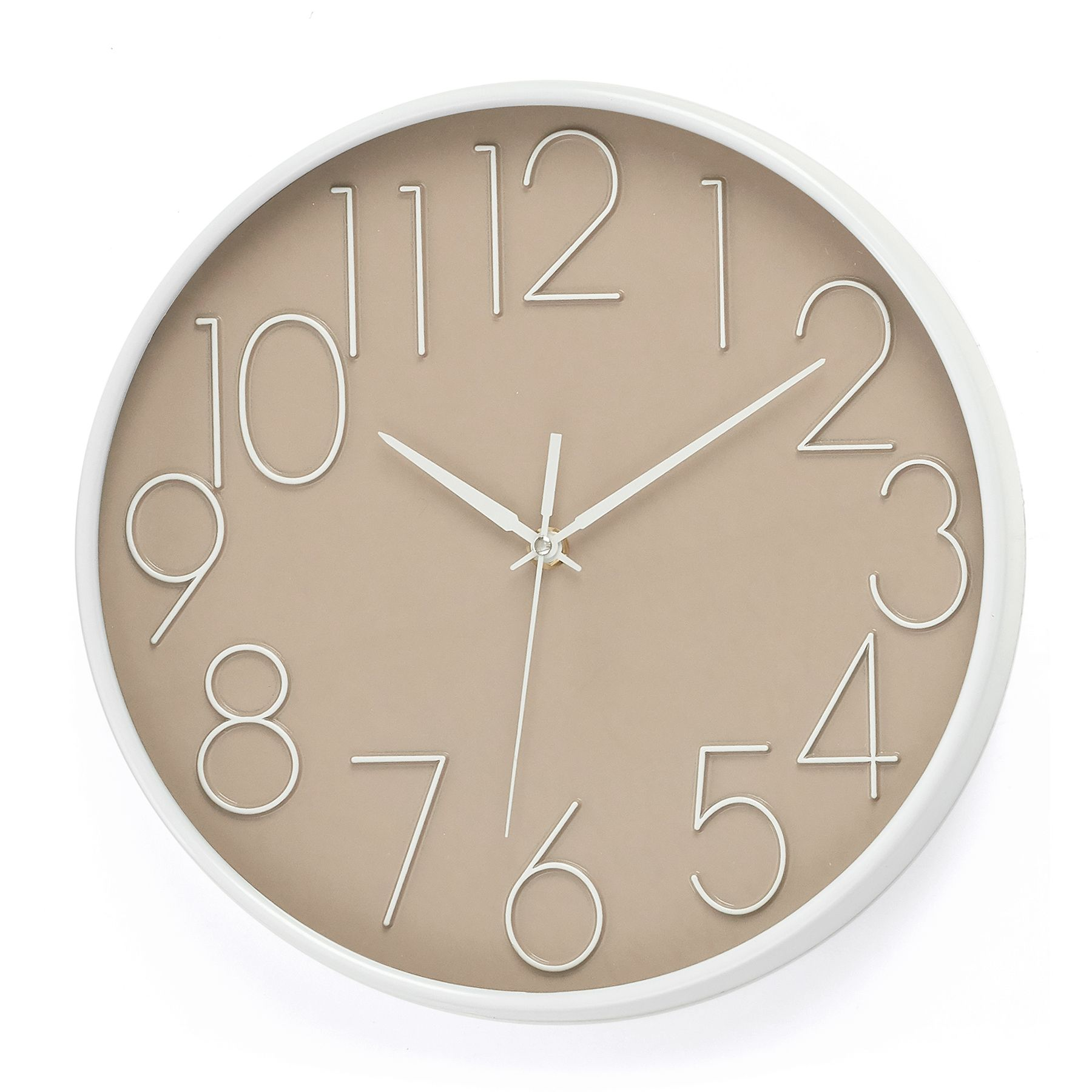 Grant Wall Clock Taupe In 2020 Clock Wall Clock Beautiful Clock