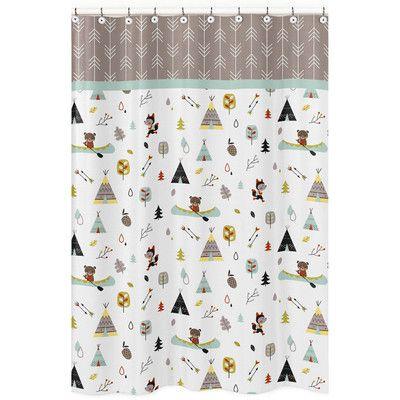 Sweet Jojo Designs Outdoor Adventure Cotton Shower Curtain & Reviews ...