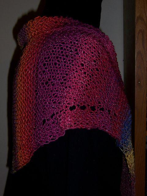 Ravelry: Summer Sunset Shawl pattern by Mary C. Gildersleeve #knit, #knitting, #handknitting, #lace, #shawl, #BHWHknits, #MaryGknits, #design, #knitdesign