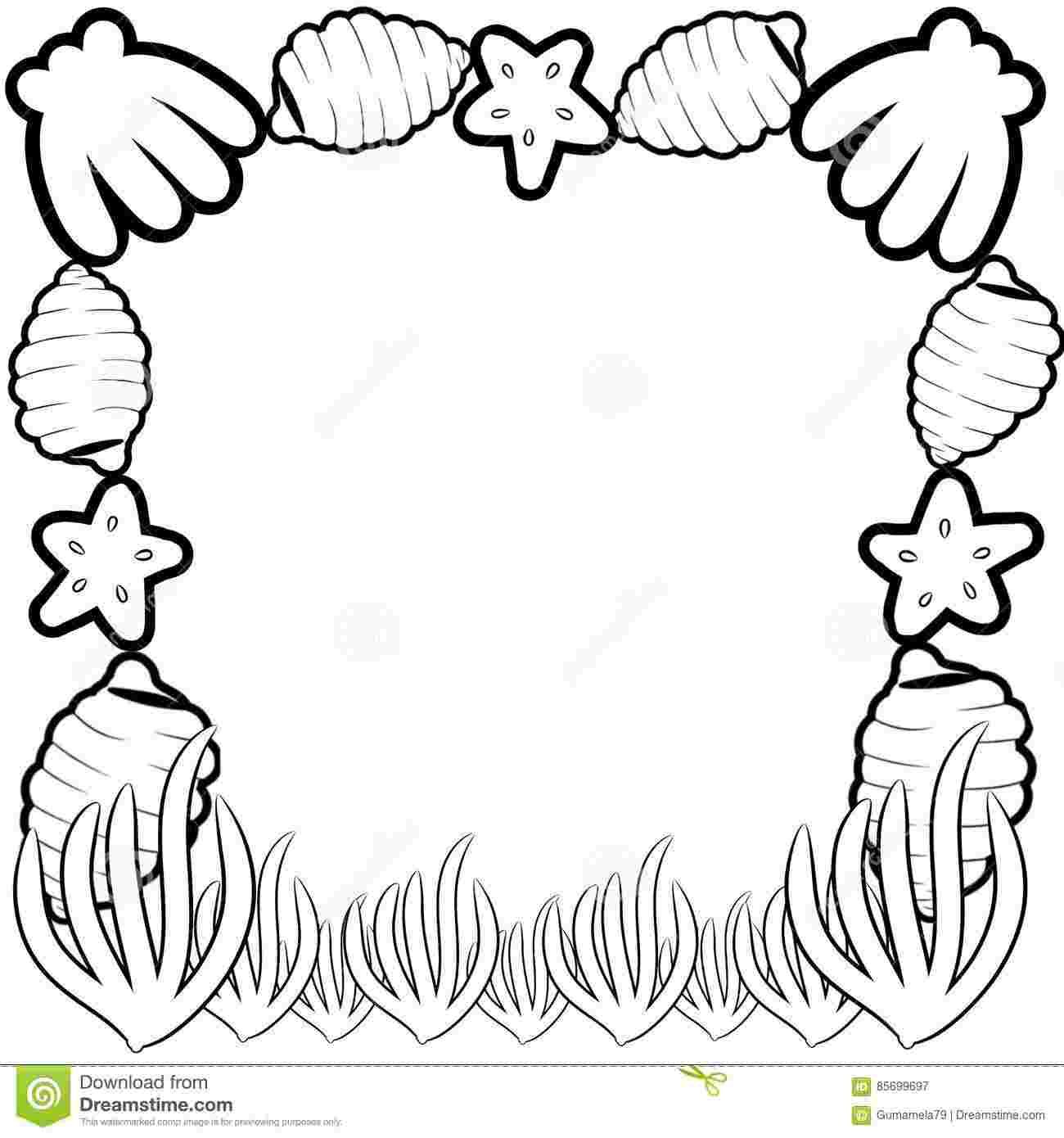 Best Printable Sea Life Frame Coloring Pages