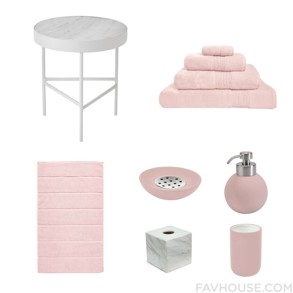 homeware products including ferm living accent table organic bath towel aquanova bath rug and pink bathroom accessories from may 2016