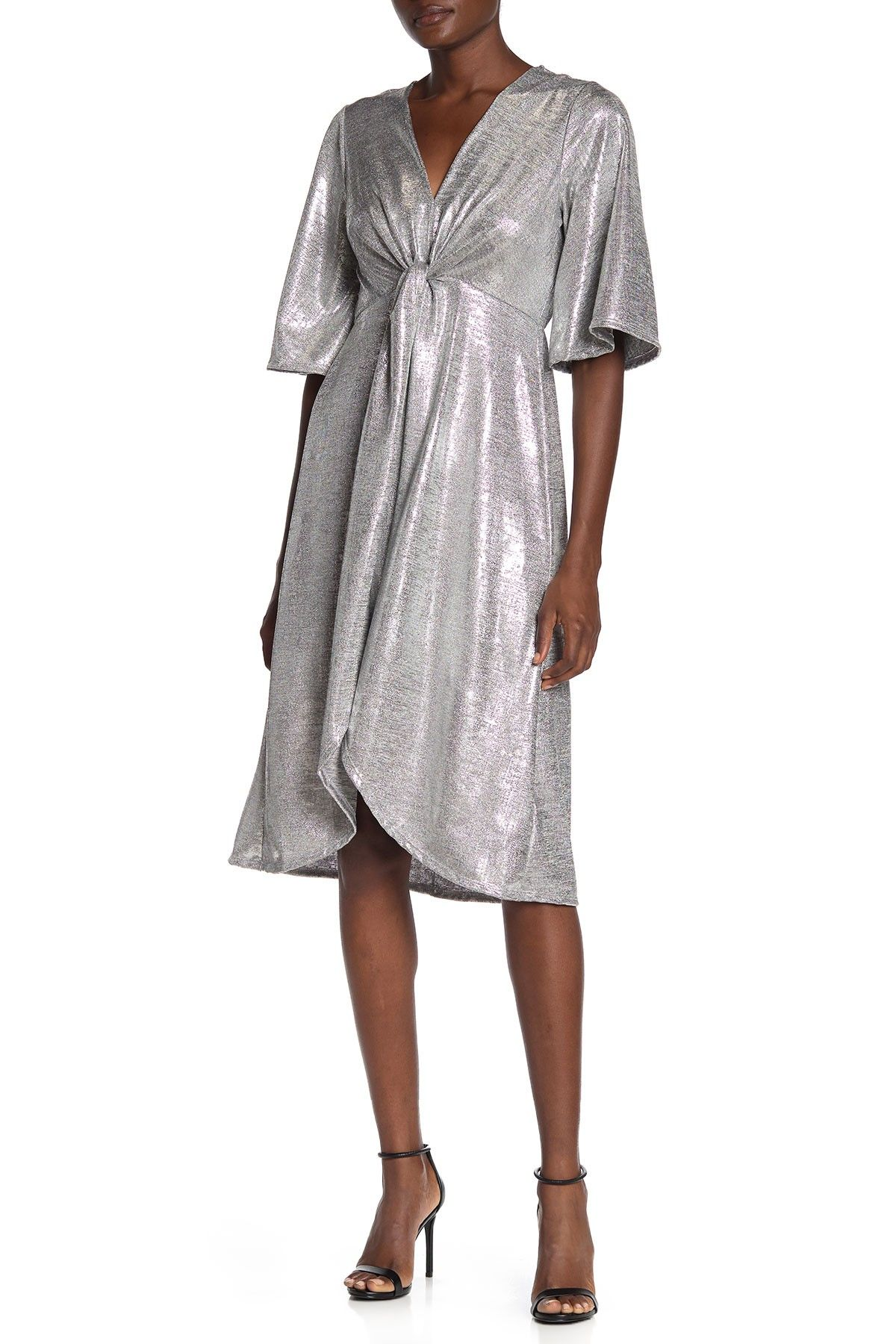 SUPERFOXX | Wrap Front Metallic Jersey Dress | Nordstrom Rack #nordstromrack