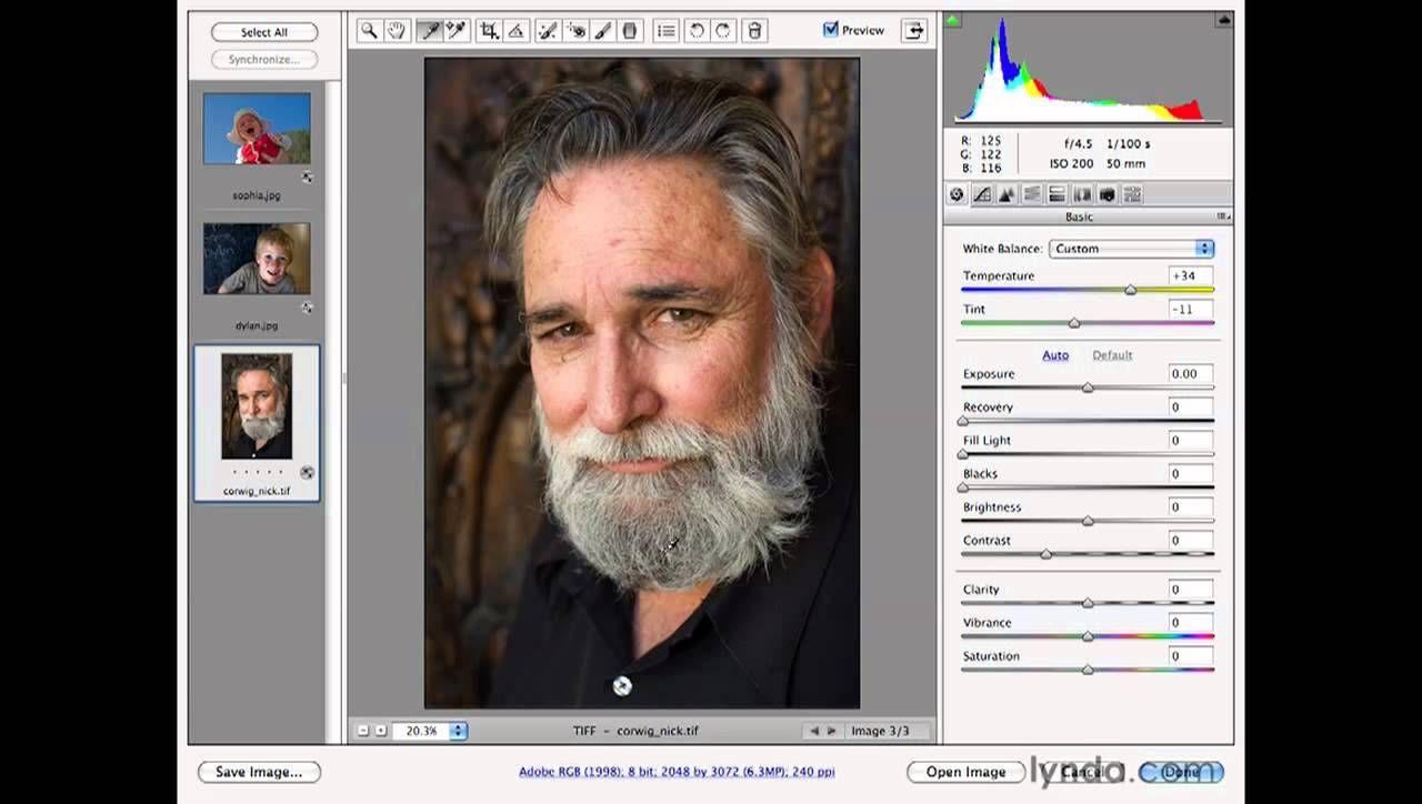 Photoshop: White balancing in Adobe Camera Raw | lynda com | Camera