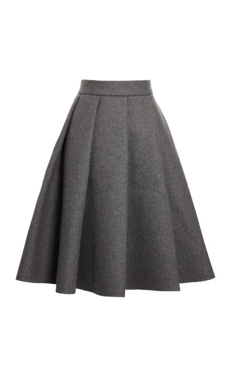 c7756d1eb4f08 classic grey wool skirt Conservative Outfits
