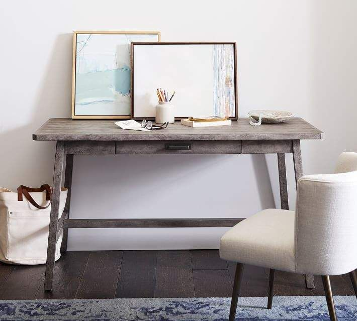 finest selection e246f ec9a4 Pottery Barn Mateo Rustic Large Desk, Salvaged Gray in 2019 ...