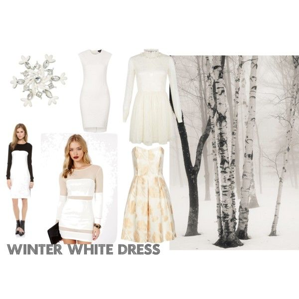 """""""Winter White Dress-Friday Favorites"""" by marcyj147 on Polyvore"""