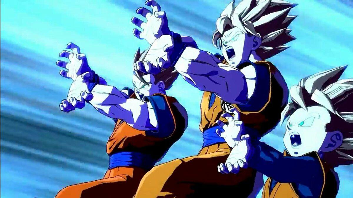 Goku Gohan And Goten Family Kamehameha Dragon Ball Goku Dragon Ball Super