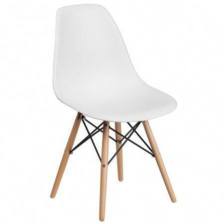 Poly And Bark Vortex Side Chair Walnut Legs White