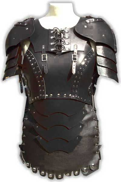 MEN/'S REAL LEATHER SHOULDER HARNESS LARP BODY ARMOUR BODY LEATHER ARMOUR
