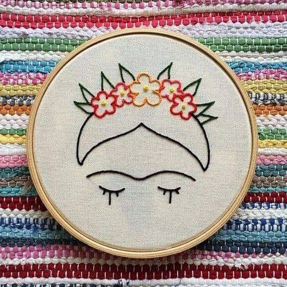 Pin de Stéfanie Oakes en Broderies | Pinterest | Frida, Bordado y ...