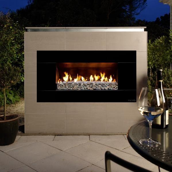 Escea EF5000 Outdoor Propane Fireplace Black With New Zealand