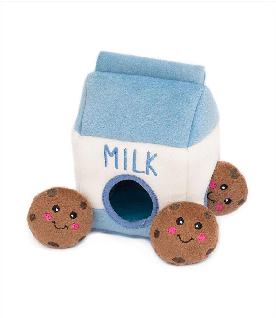 Zippy Burrow Milk & Cookies Cute dog toys, Pet toys
