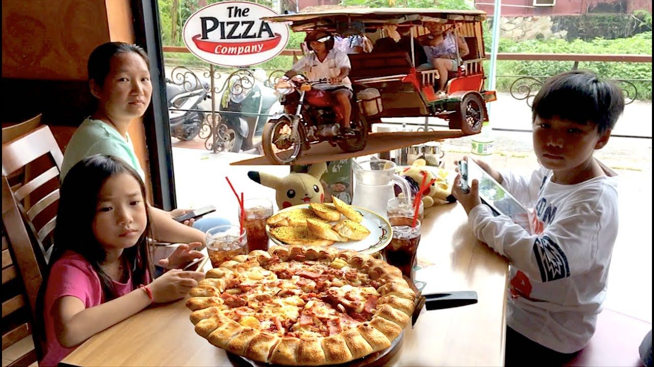 Travel by Tuk Tuk from Otres Beach to Sihanoukville | Lunch at the Pizza...  | Travel, Pizza company, Beach