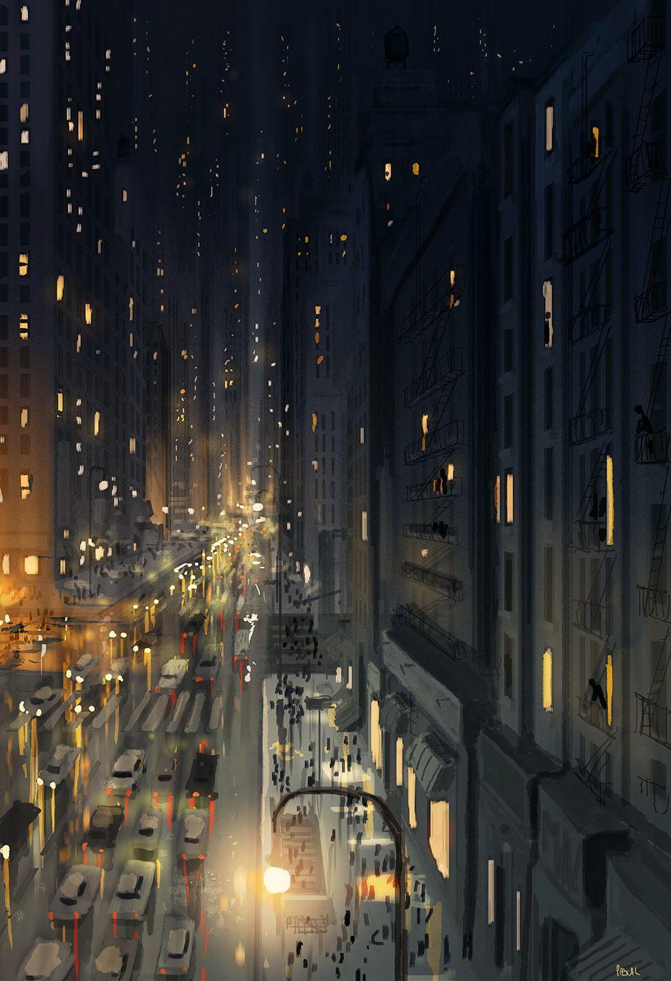Sunday Night In New York Pascalcampion Newyork Art Art