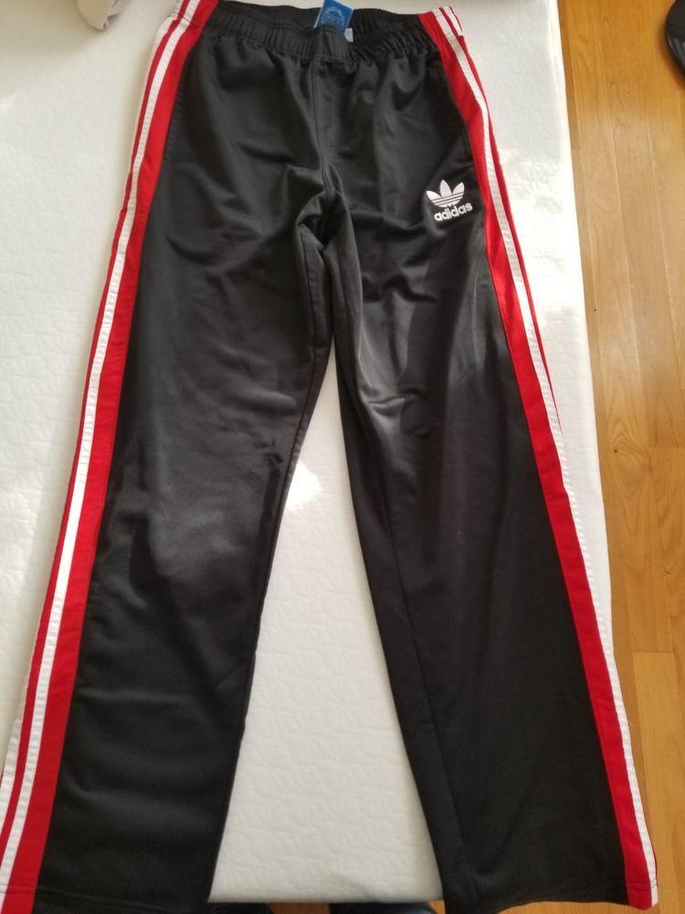 8124e2d0b093d Adidas Men's Athletics Essential Tricot 3-Stripe Pants Black/White ...
