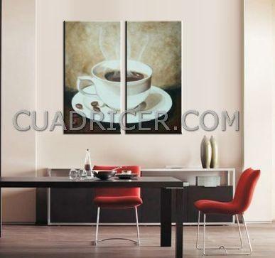 Cuadro comedor moderno taza de cafe 2272 para cocina en - Cuadros para comedor moderno ...