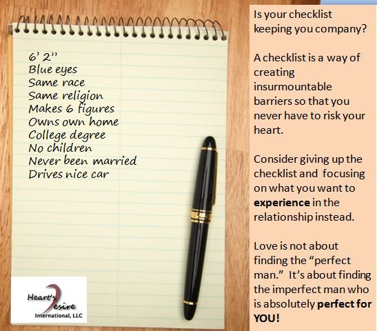 A Checklist Is A Way Of Creating Insurmountable Barriers So That