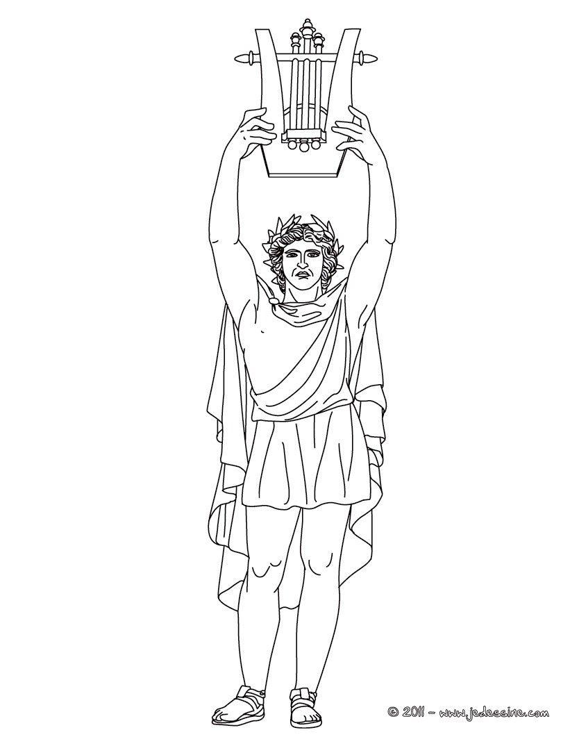 Voici Un Coloriage Historique Sur La Mythologie Grec Avec Apollon Dieu Grec Des Arts Et De La Musiqu En 2020 Dieux Et Deesses Grecs Dieux Grecs Art Mythologie Grecque
