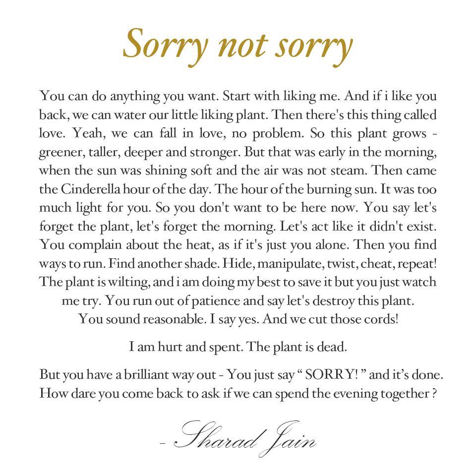 sorry not sorry poetry love heartbreak quotes