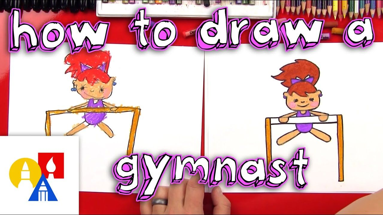How To Draw A Cartoon Gymnast Youtube Art For Kids Hub