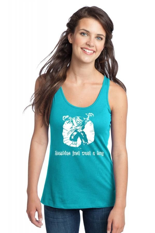 zombies just want a hug Racerback Tank