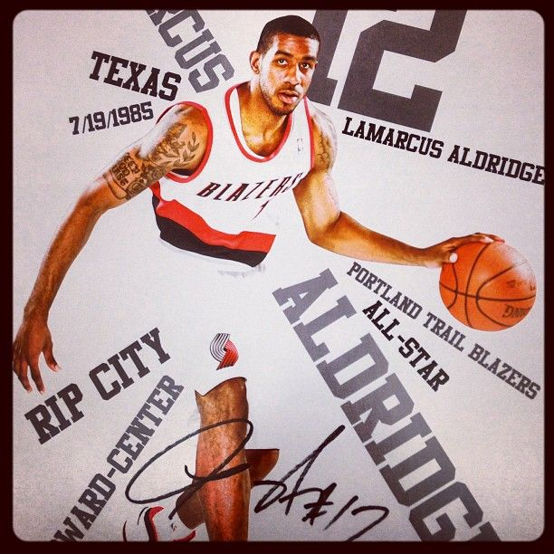 Blazers Portland Posters: LaMarcus Aldridge Poster Night