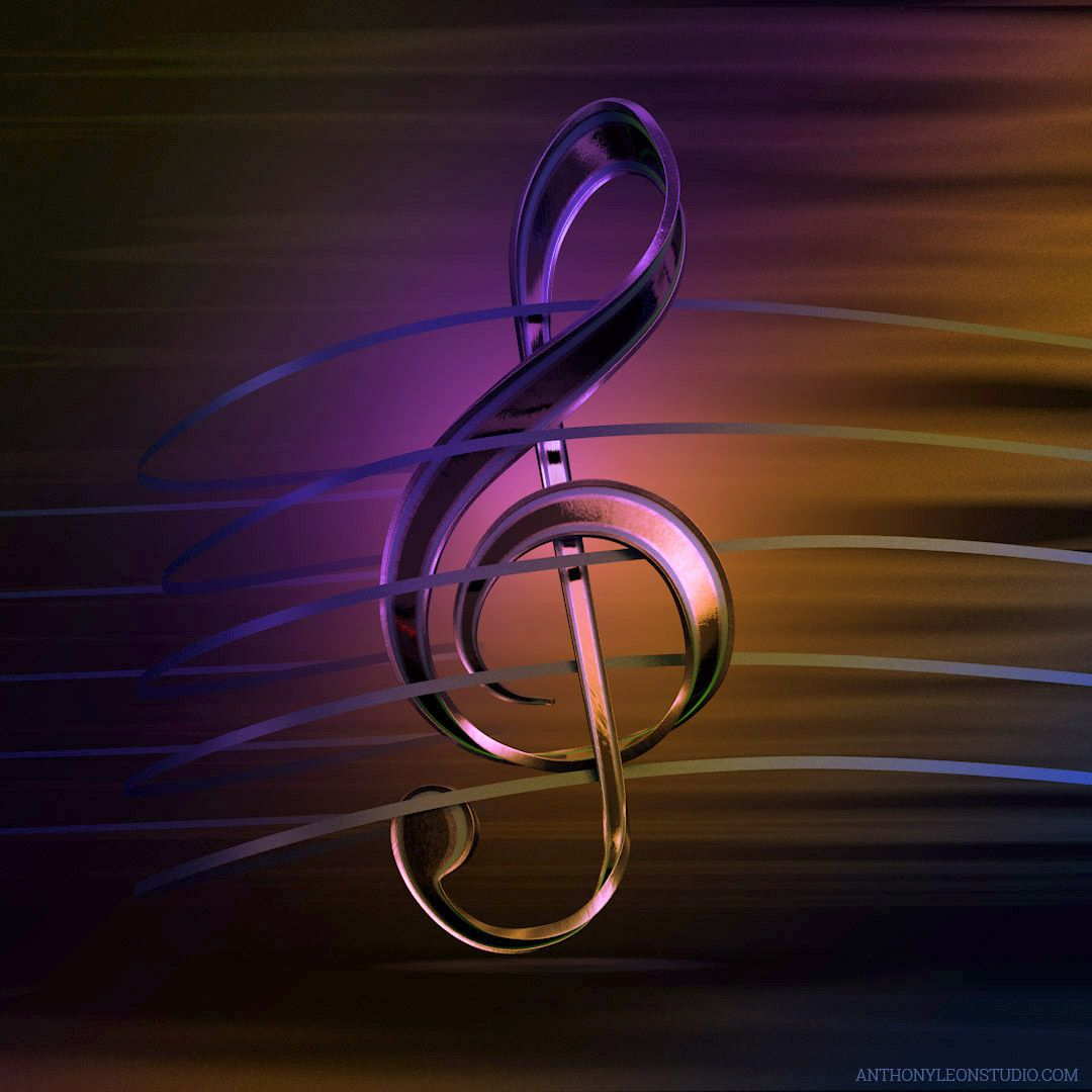 Best The Treble Clef Cinema 4D Model And Rendering With 400 x 300