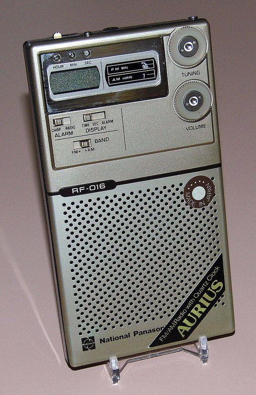 Vintage Panasonic Portable Fm Am Radio With Quartz Clock Model Rf 016 Made In Japan Circa 1978 Transistor Radio Vintage Vintage Radio Radio