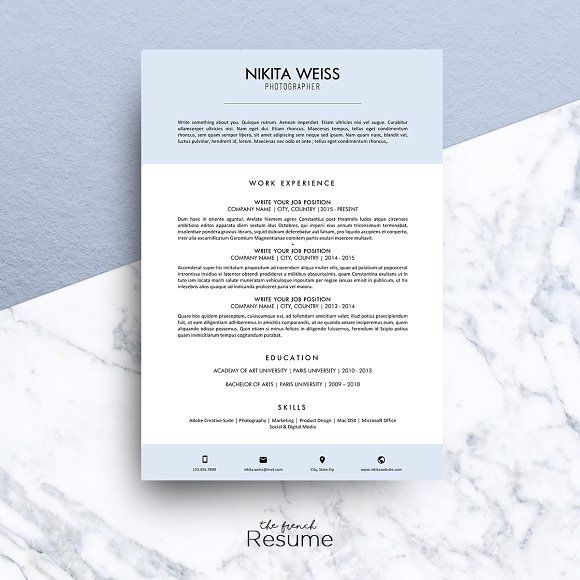 Resume Templates Microsoft Word 2013 Cool Resume  Cv Ms Word  Nikitathe.french.resume On .