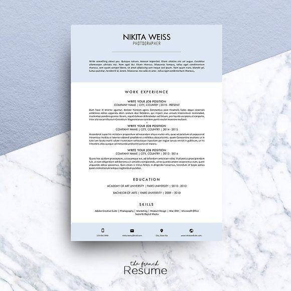 Resume \/ CV (MS Word) Nikita Words, Resume cv and Resume - words for a resume