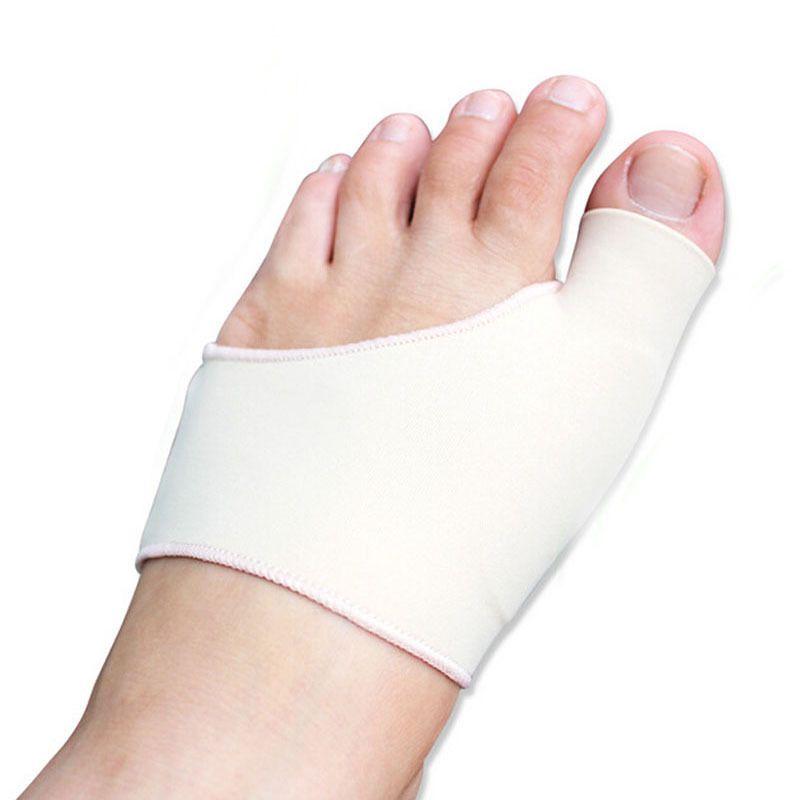 건막 류 보호 실리콘 젤 소매 외반 된 Valgus 깔창, 중복 발가락 정형 외과 발가락 분리기 발 관리 안창