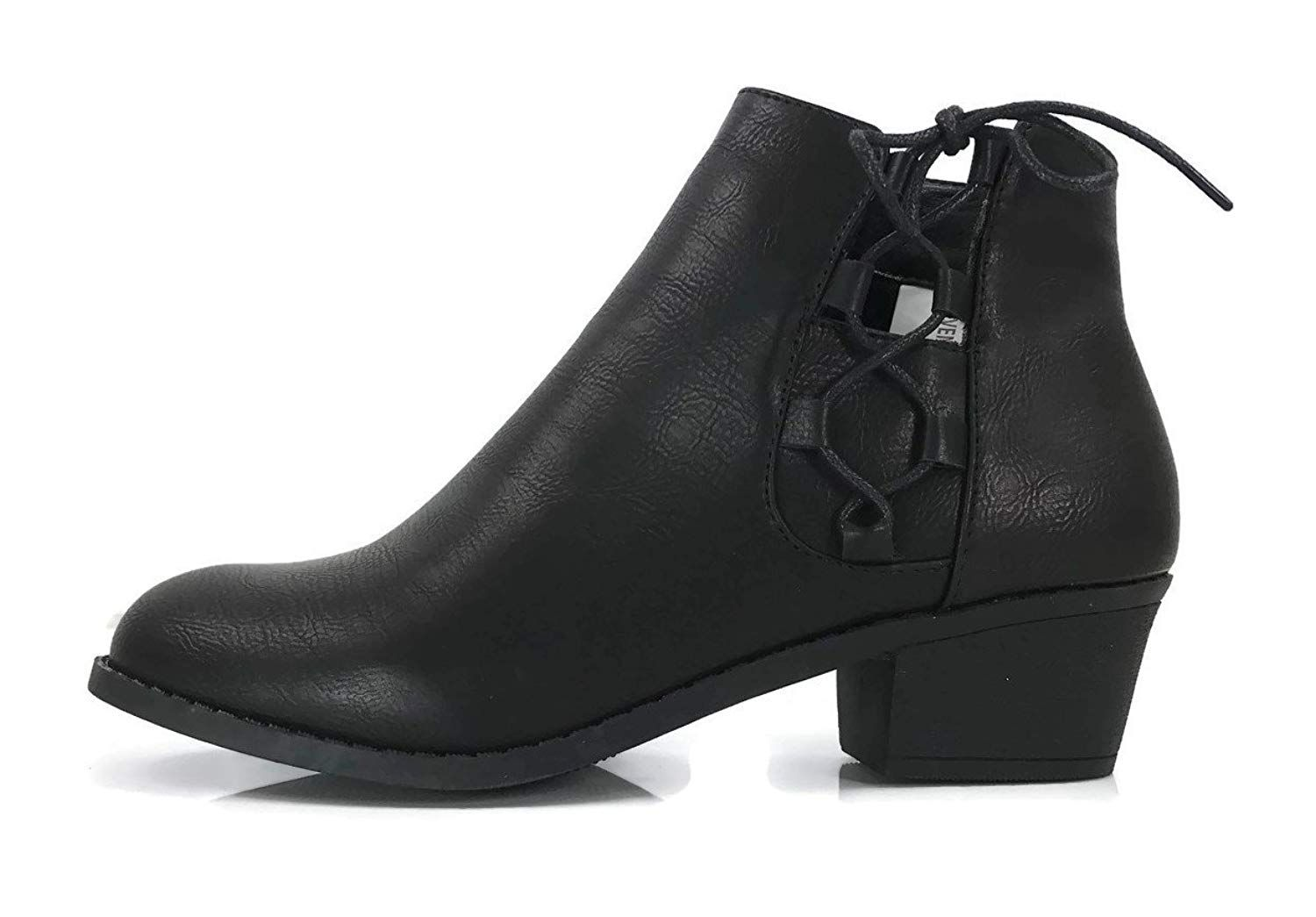 414f64503 Steven Ella Women s Holly Ankle Bootie Criss Cross Faux Leather Flat Heel  Zipper. These stylish booties made of quality faux suede leather have a  classy Amy ...