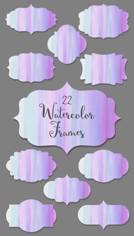 Watercolor frames: \