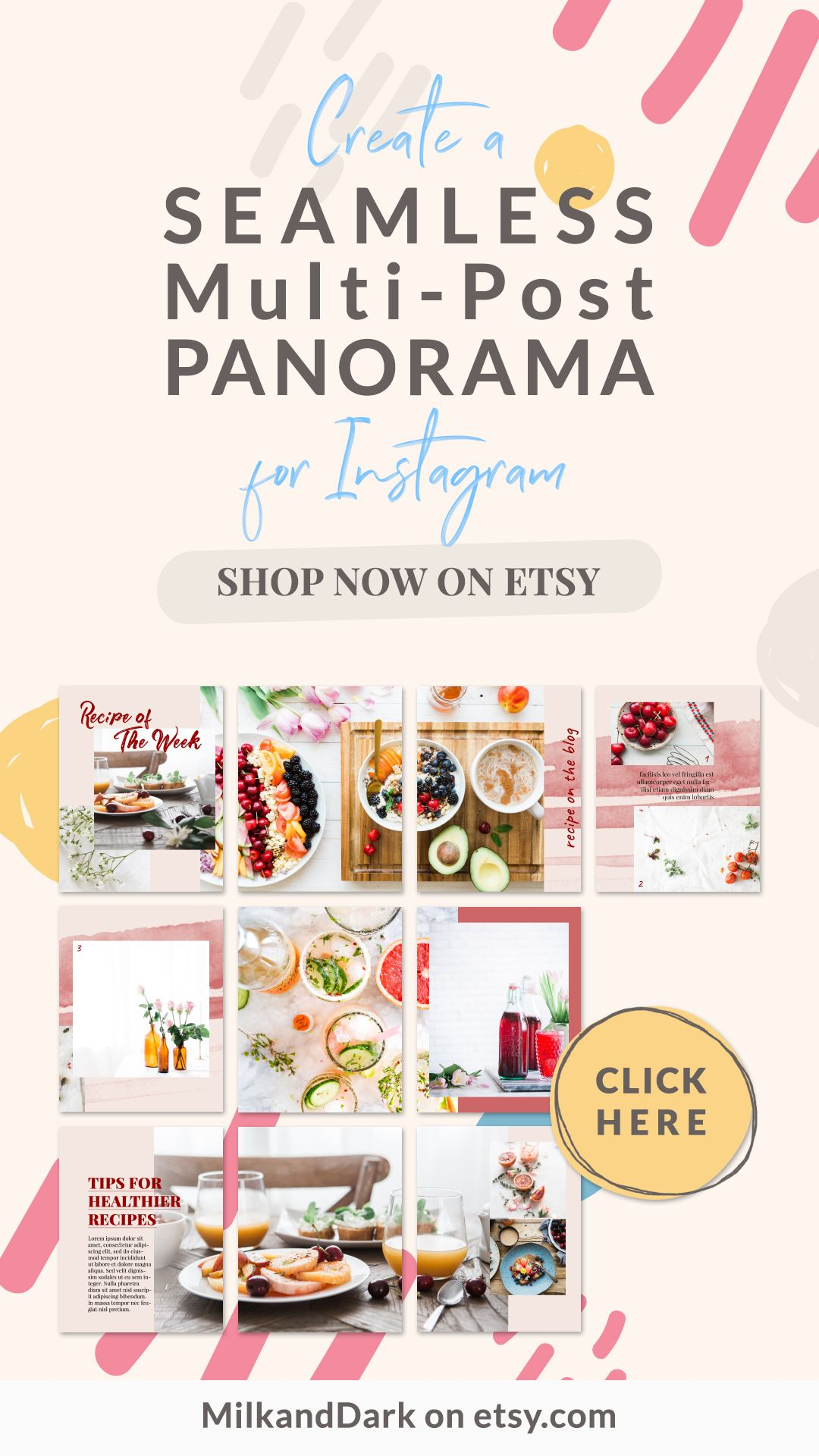 Create a seamless multipost panorama for instagram using