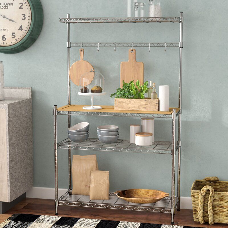 Enos Steel Chrome Baker S Rack With Images Bakers Rack