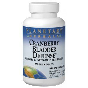 Planetary Formulas Cranberry Bladder Defense, 880 mg, Tablets, 120 tablets by Planetary Formulas. Save 41 Off!. $20.50. Supports the health of the genitourinary tract and bladder. Readily absorbed into the bloodstream and contains more of cranberry's beneficial constituents than either the actual fruit or the powdered herb. A concentrated extract that yields a broad spectrum of cranberry's valuable plant acids including powerful antioxidants and astringents. Each 500 mg tablet equival...