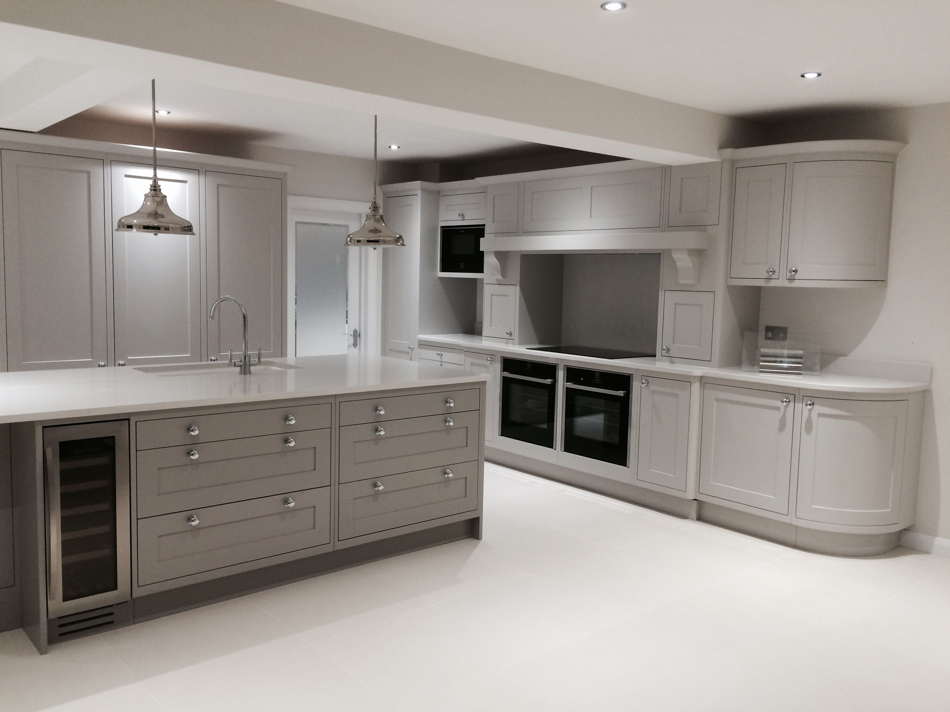 Shaker Kitchen In Combination Of French Grey Dark And Mid White Modern Kitchen Home Decor Kitchen Kitchen Decor