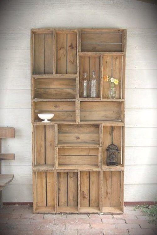 muebles rusticos hechos con estibas y cajas de madera - Buscar con ...
