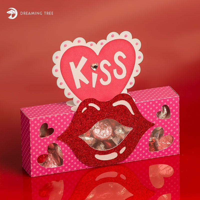 candy kiss treat box free svg  free boxes valentine