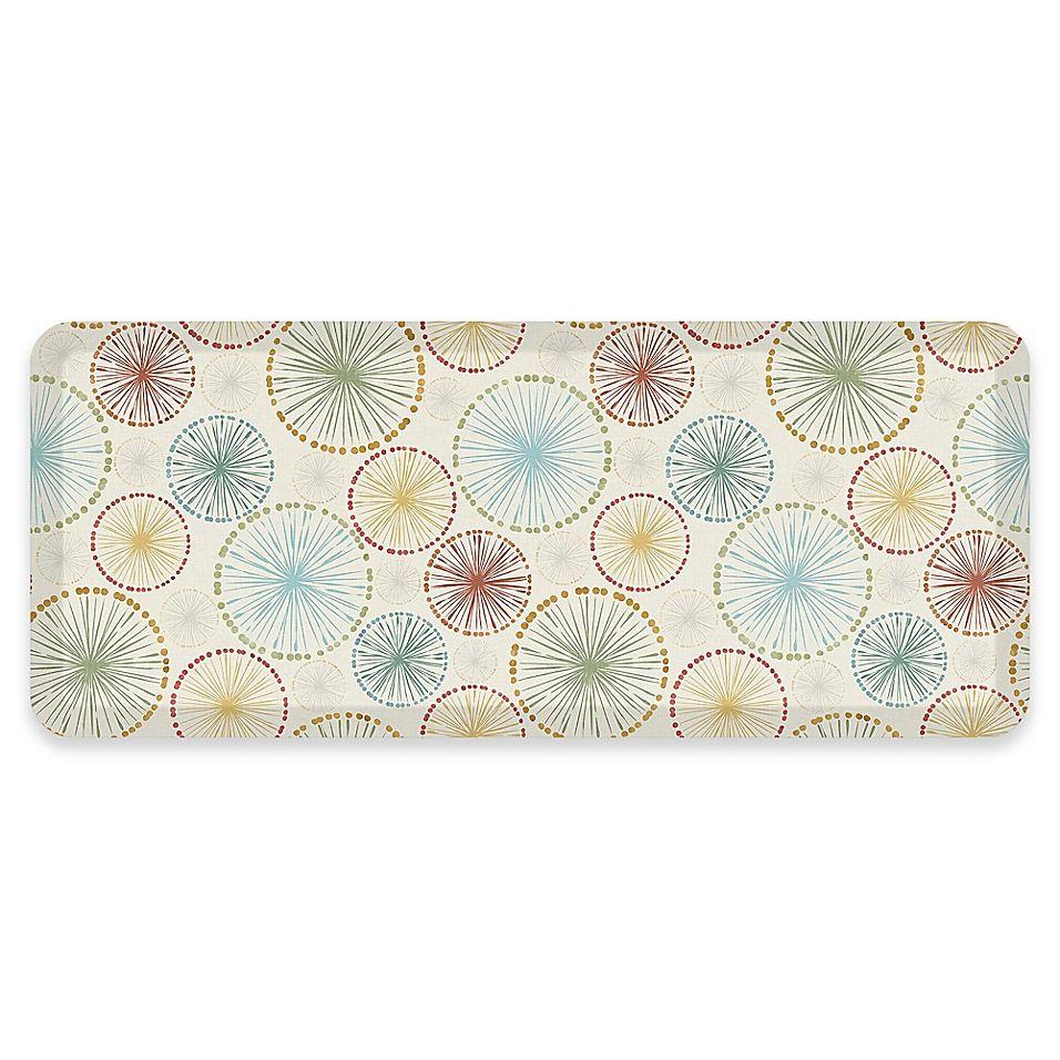 Gelpro Newlife Carousel 20 X 48 Designer Comfort Mat In Cream Design Bath Decor Carousel