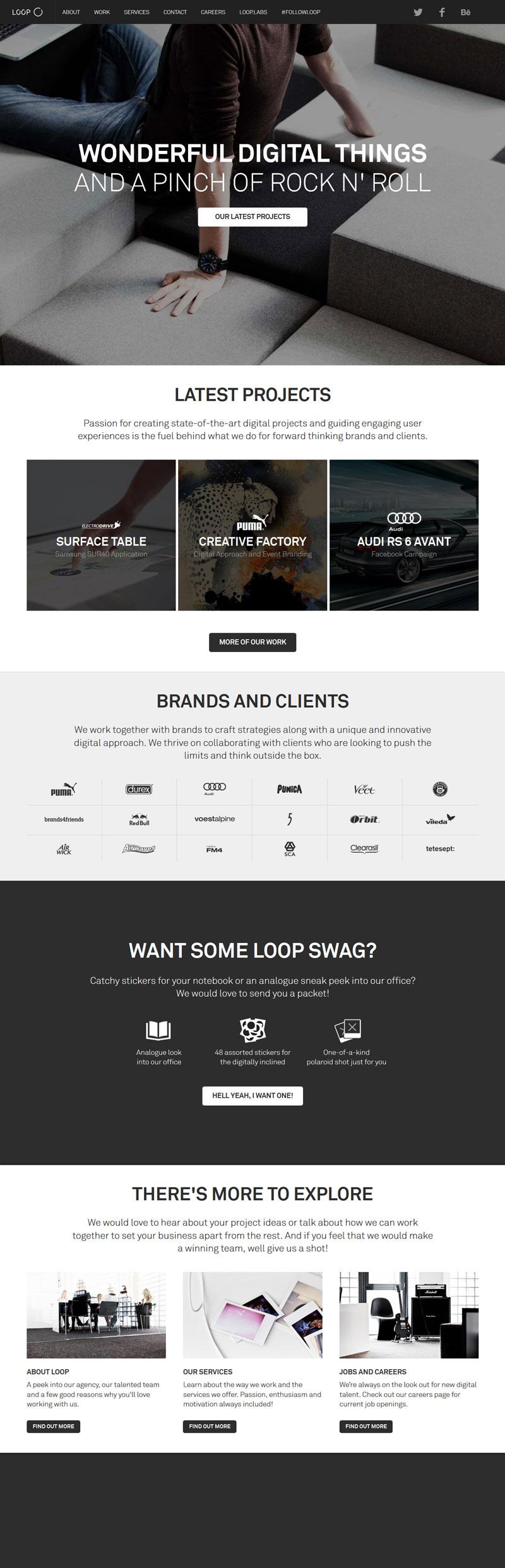 Agentur Loop Flat Design Flat Design Web Design Design