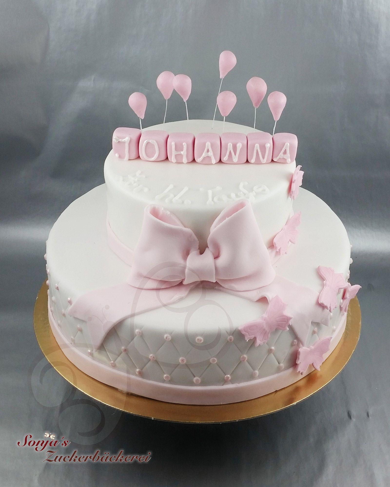Torte Zur Taufe Mit Schmetterlinge Torte Taufe Taufe Kuchen Madchen Taufe Kuchen